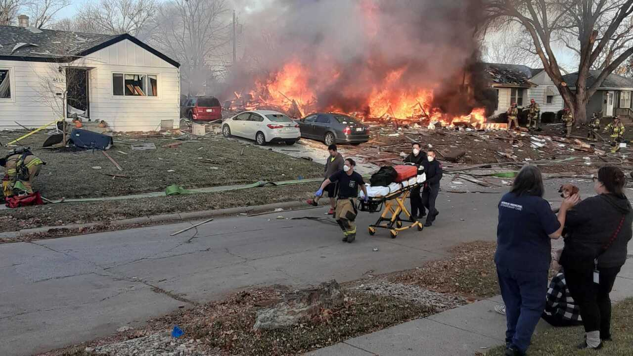 Omaha house fire and explosion