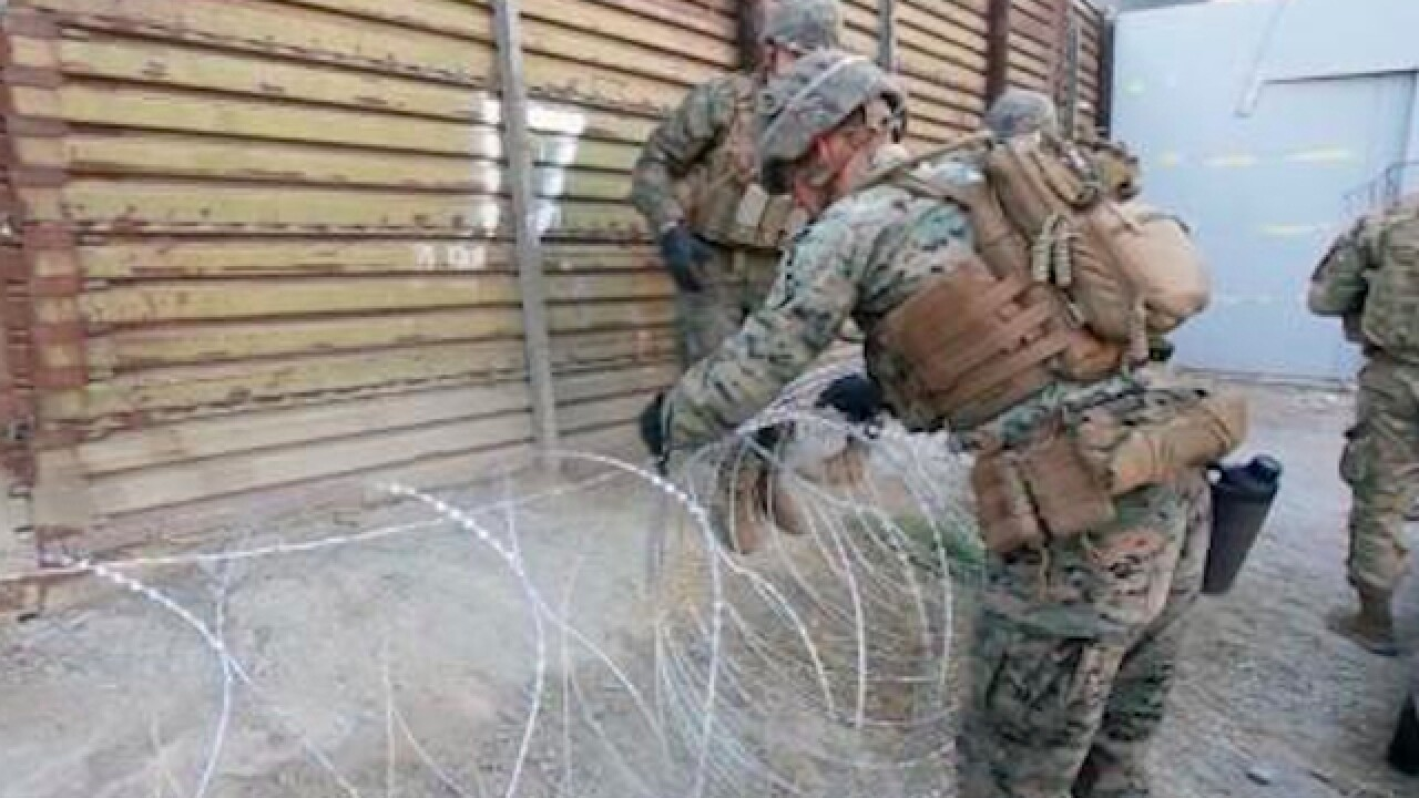 Trump expected to give troops authority to protect border personnel