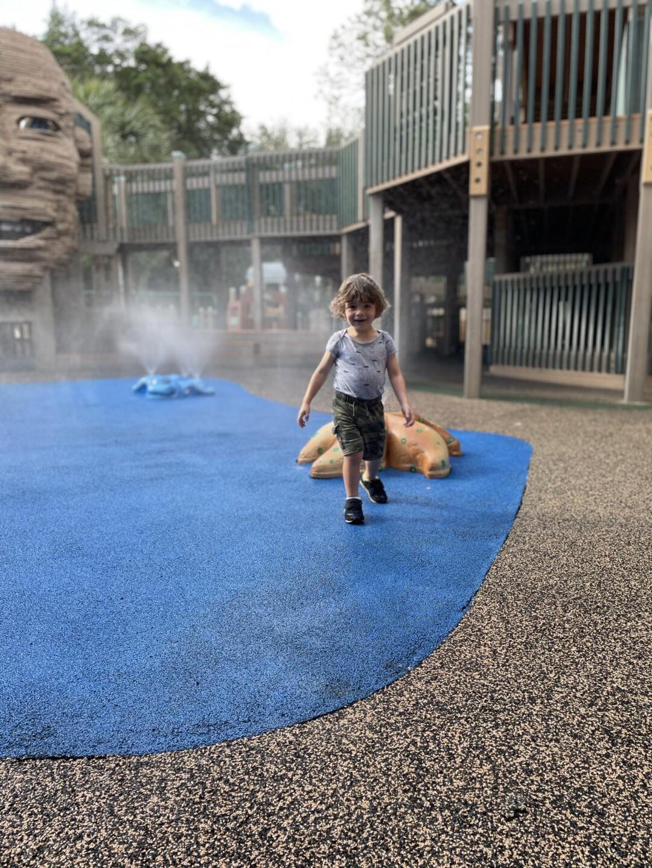 Sugar Sands Park has a massive play structure.