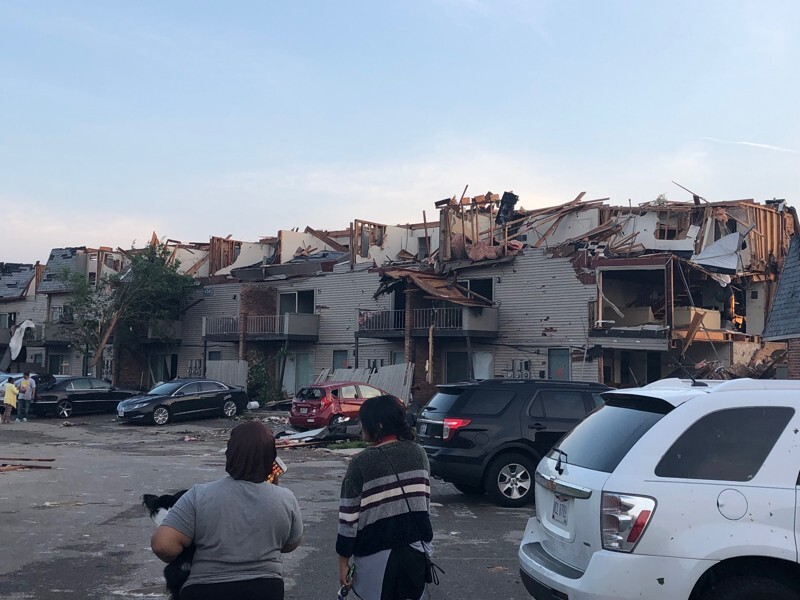 PHOTOS: Before and after pics of the tornado damage in and ...