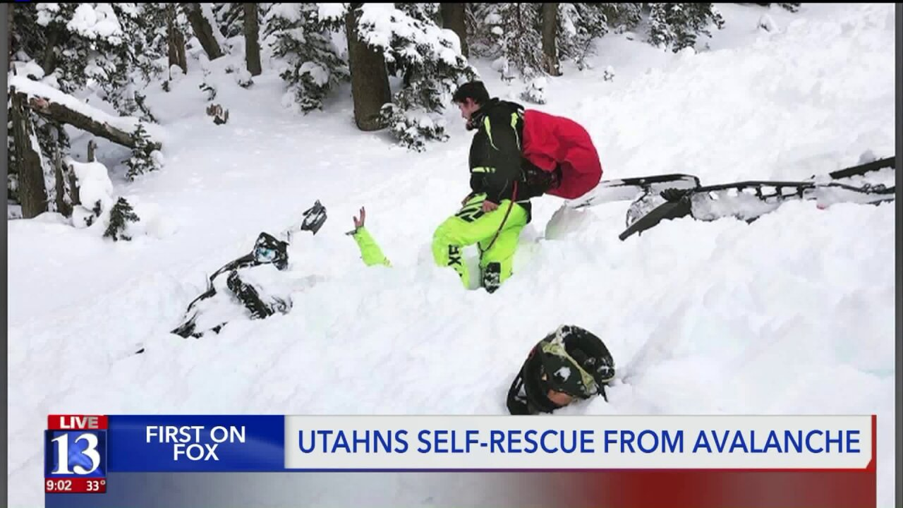 Utah man thanks gear, luck after self-rescuing from early season avalanche that buriedfriend
