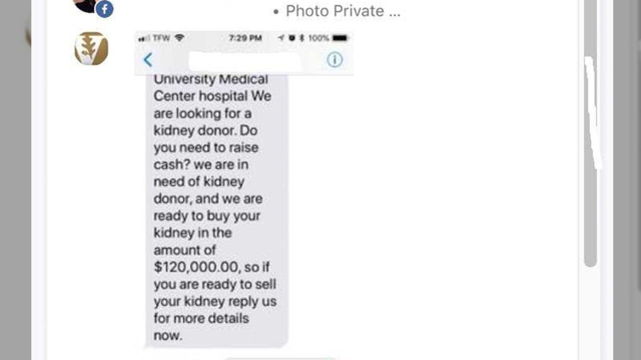 Vanderbilt warns of phishing scam involving organ donations