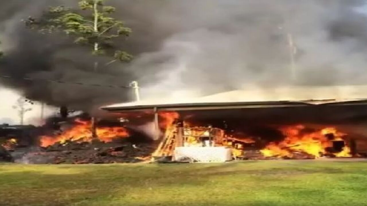 Number of homes destroyed by lava grows to 9; eruptions continue