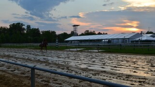 Sunrise tour of the Pimlico ahead of Preakness