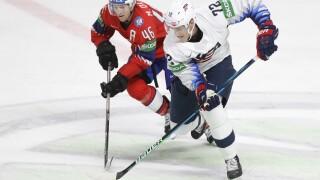 Tage Thompson Latvia Ice Hockey Worlds