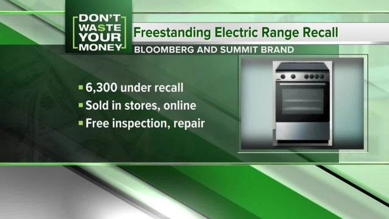 Electric ranges and scooters recalled