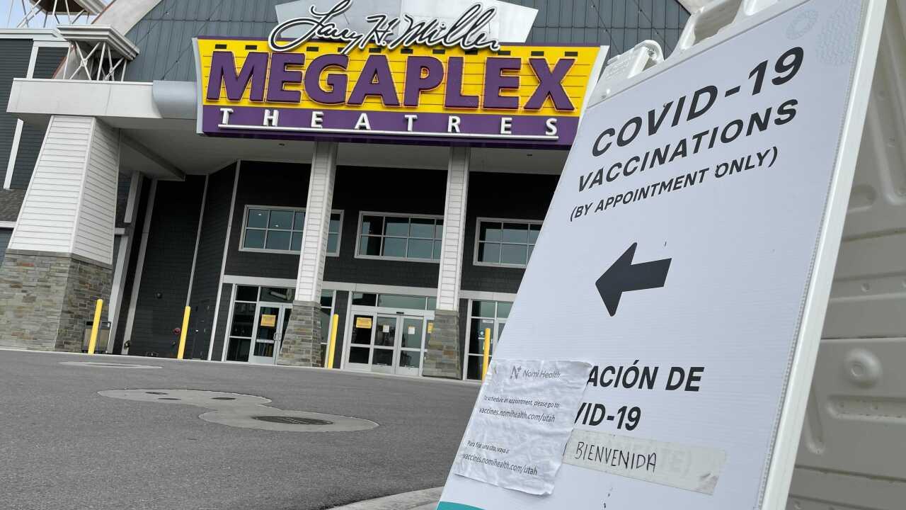 covid-19 coronavirus vaccine vaccination clinic larry h. miller megaplex theatres movie theater utah.jpg