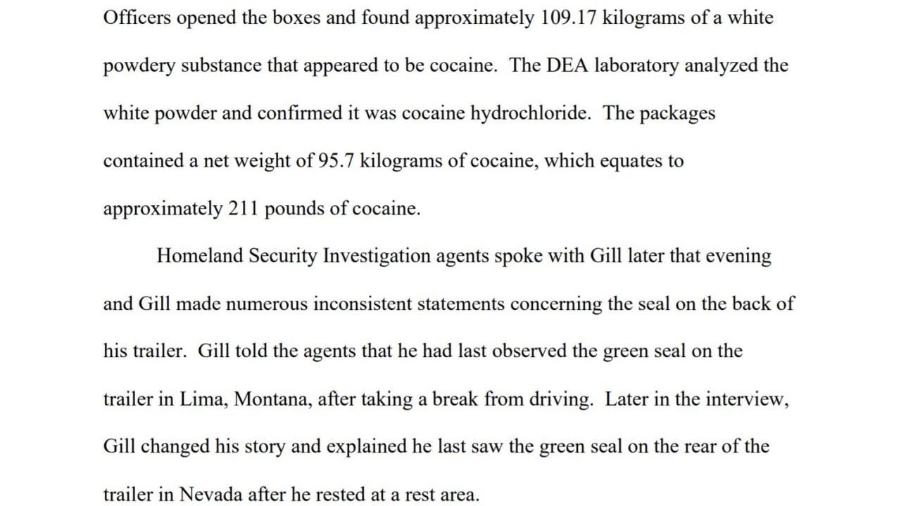 Gill pleaded guilty to possession with intent to distribute cocaine
