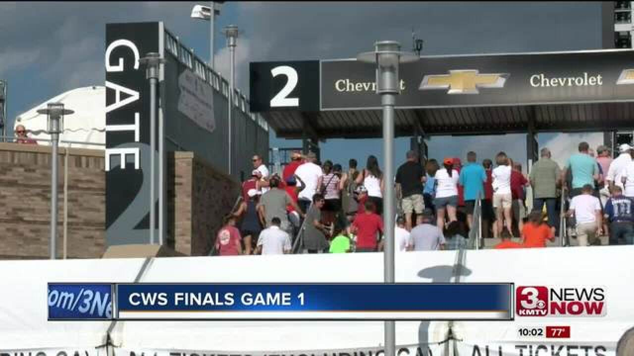 Baseball fans celebrate first game of the CWS...