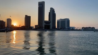 Evening Sunset in Corpus Christi - Photo By: FB Coastal Bend Weather Watcher Lala Laura Caballero