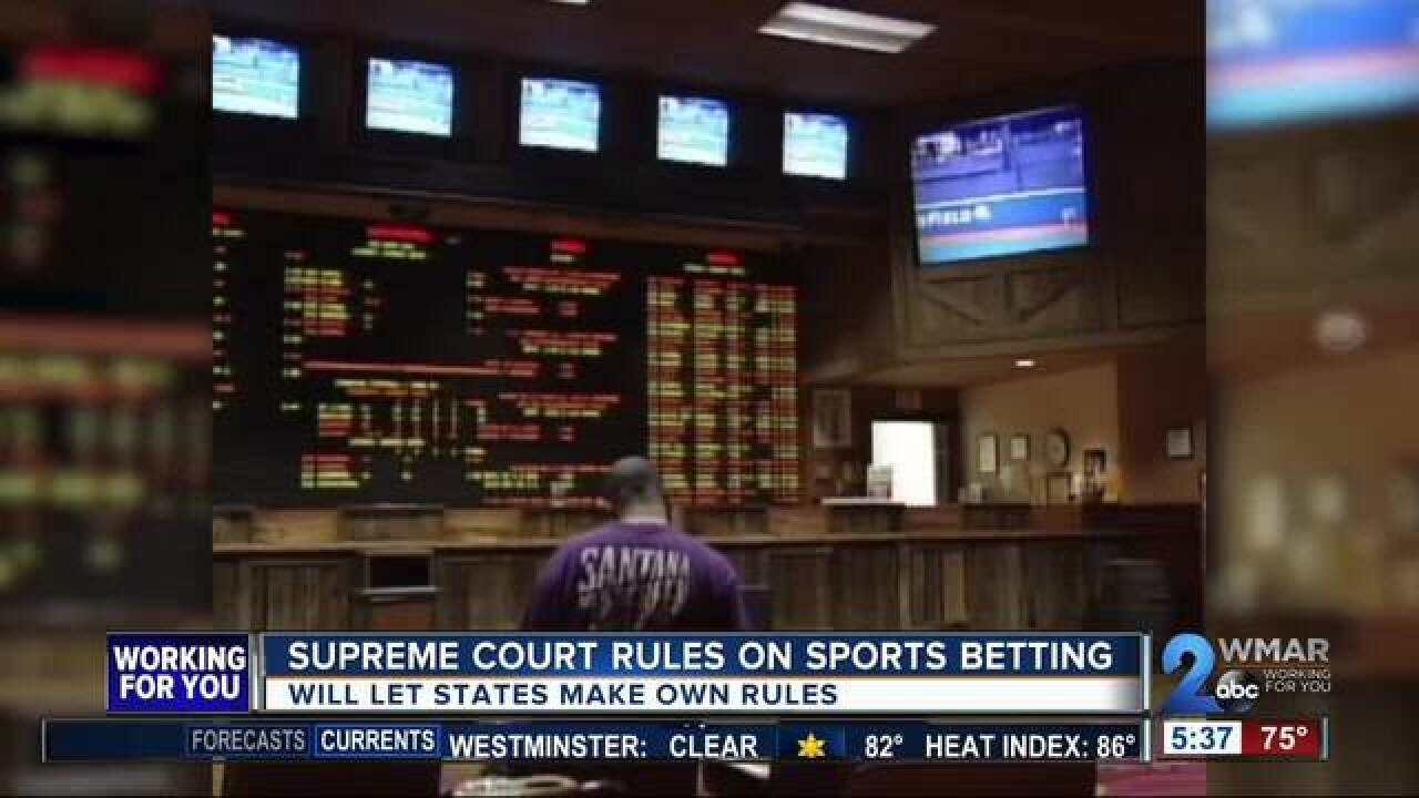 States can now make rules on sports betting