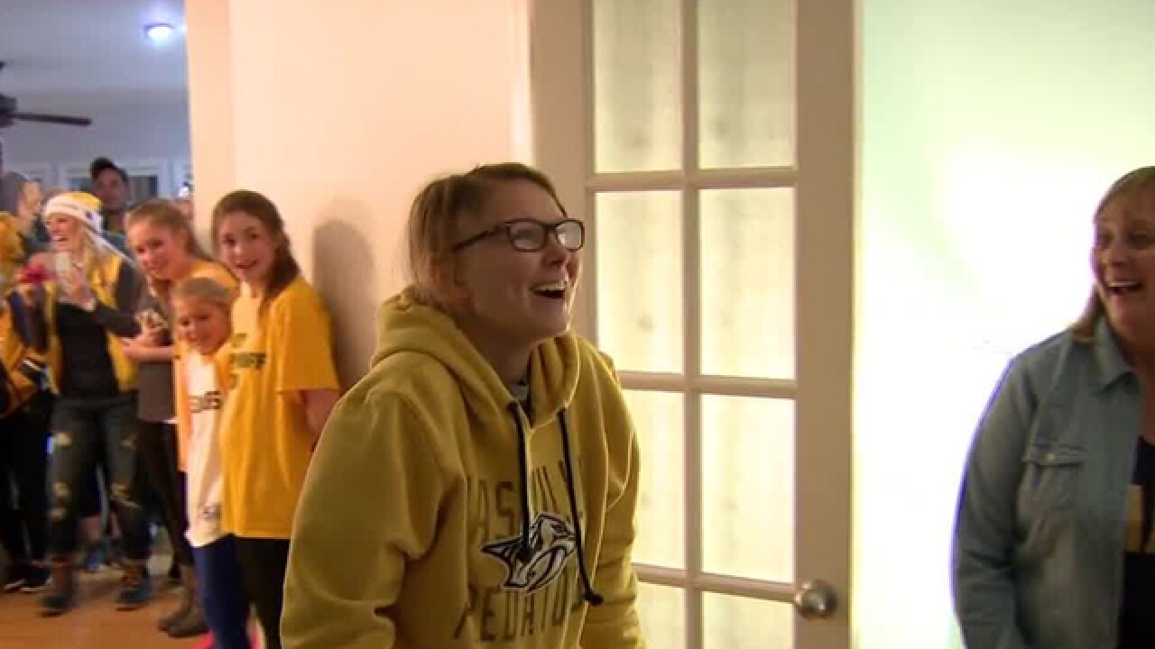 Predators Give Bedroom Makeover To Teen Battling Brain Tumor