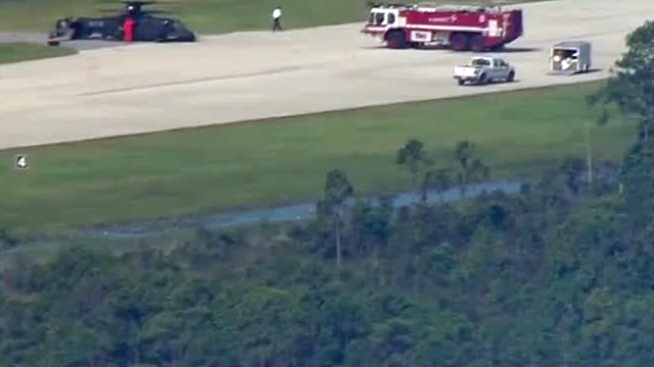 S-97 Raider helicopter makes a hard landing at the Sikorsky Development Flight Center