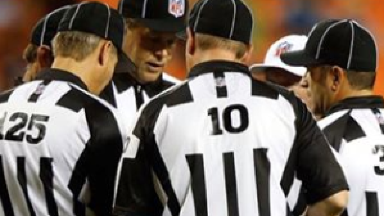 NFL refs at Lambeau Field after Packers win
