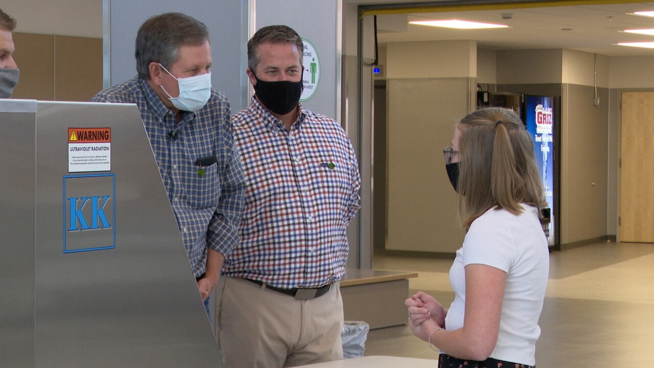 Senator Steve Daines visits Missoula to view new school sanitizing technology