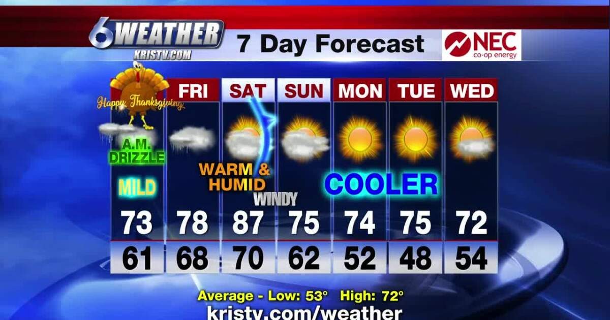 After a brief cool-down a slow warming trend begins Thanksgiving