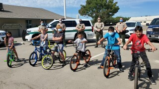 Fresno County Sheriff's Foundation for Public Safety donates bikes to kids