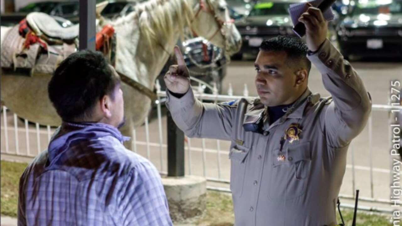 Man riding horse on freeway arrested for DUI