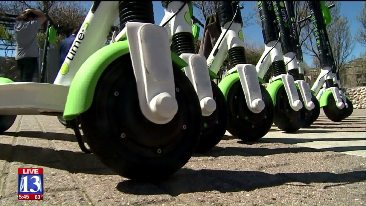Lime scooters will activate in Ogden Friday morning