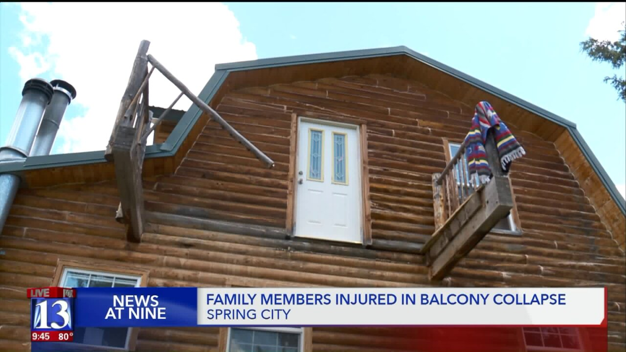 Utah family recovering from injuries after balconycollapse