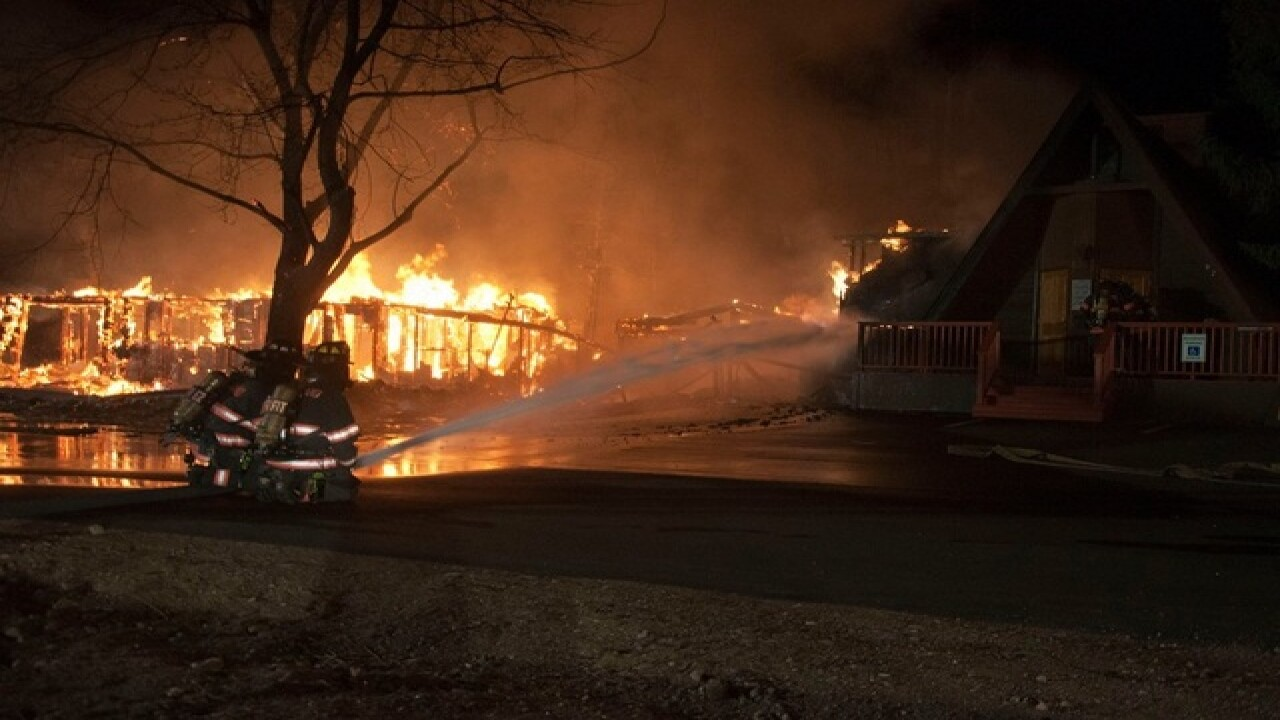 Home destroyed, chapel damaged in Drake fire