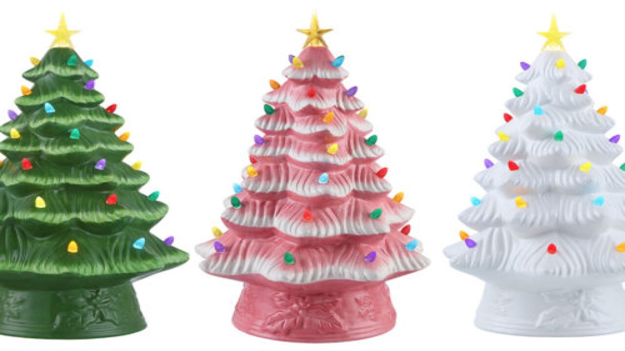 Walmart Is Selling These Adorable Pre-lit Ceramic Christmas Trees For Just $25