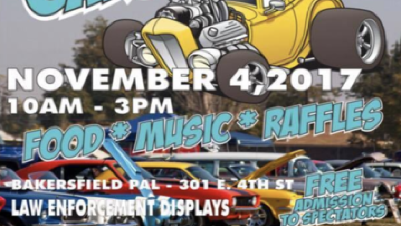 Bakersfield Police Activities League hosting 3rd annual Car Show & Kids Festival Saturday