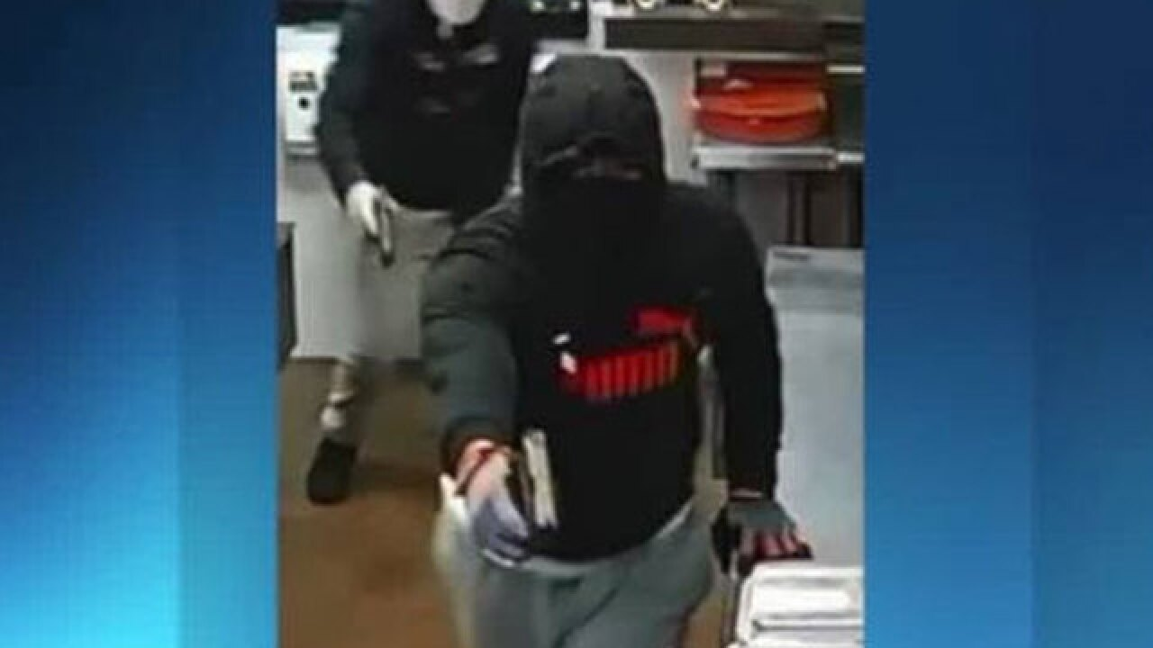 2 masked gunmen sought in Sonic robbery in Greenacres