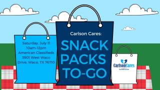 Carlson Cares Snack Pack event in Waco