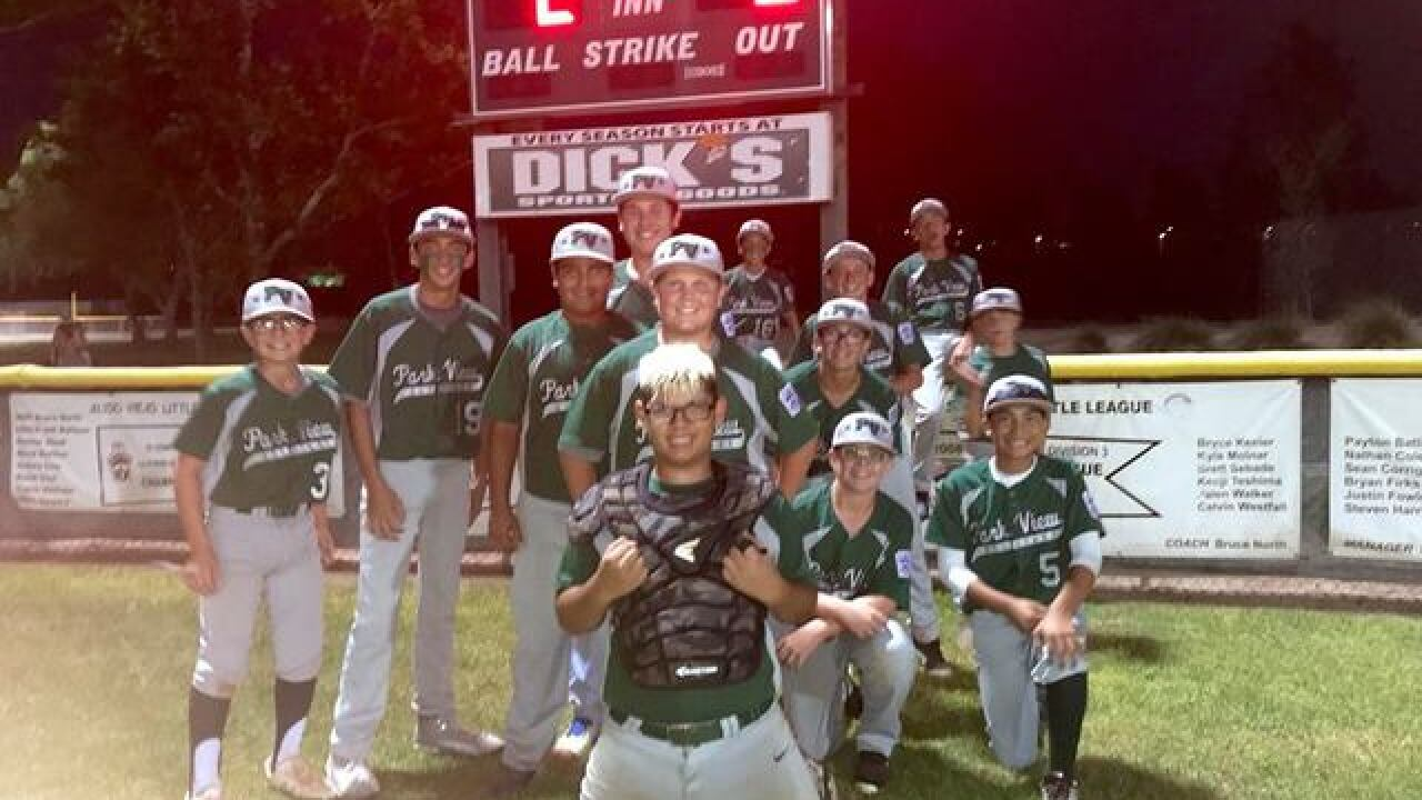 Park View Little League advances to SoCal Championship game with 5-2 win over Temple City LL