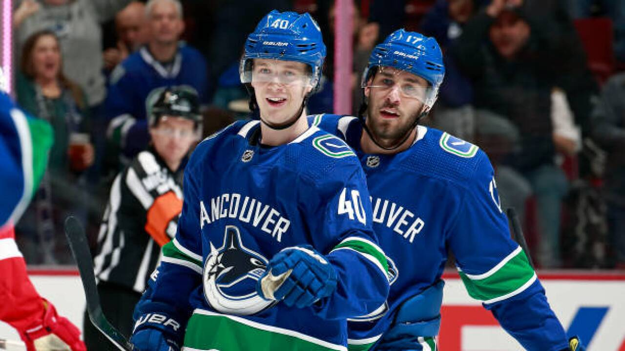 f7c075d75 Elias Pettersson scores in return from injury  Canucks beat Red Wings