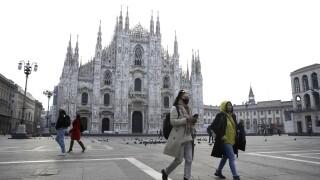 APTOPIX Italy China Europe Outbreak