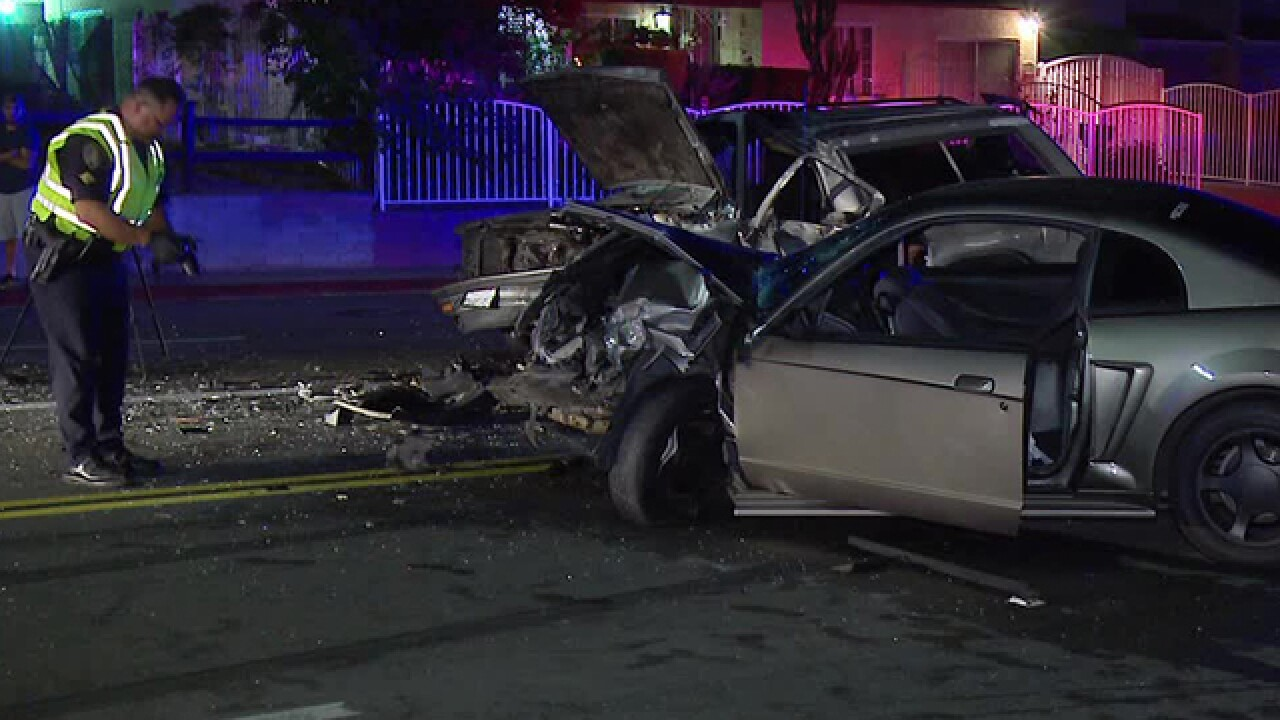 2 hurt in Lincoln Park head-on collision