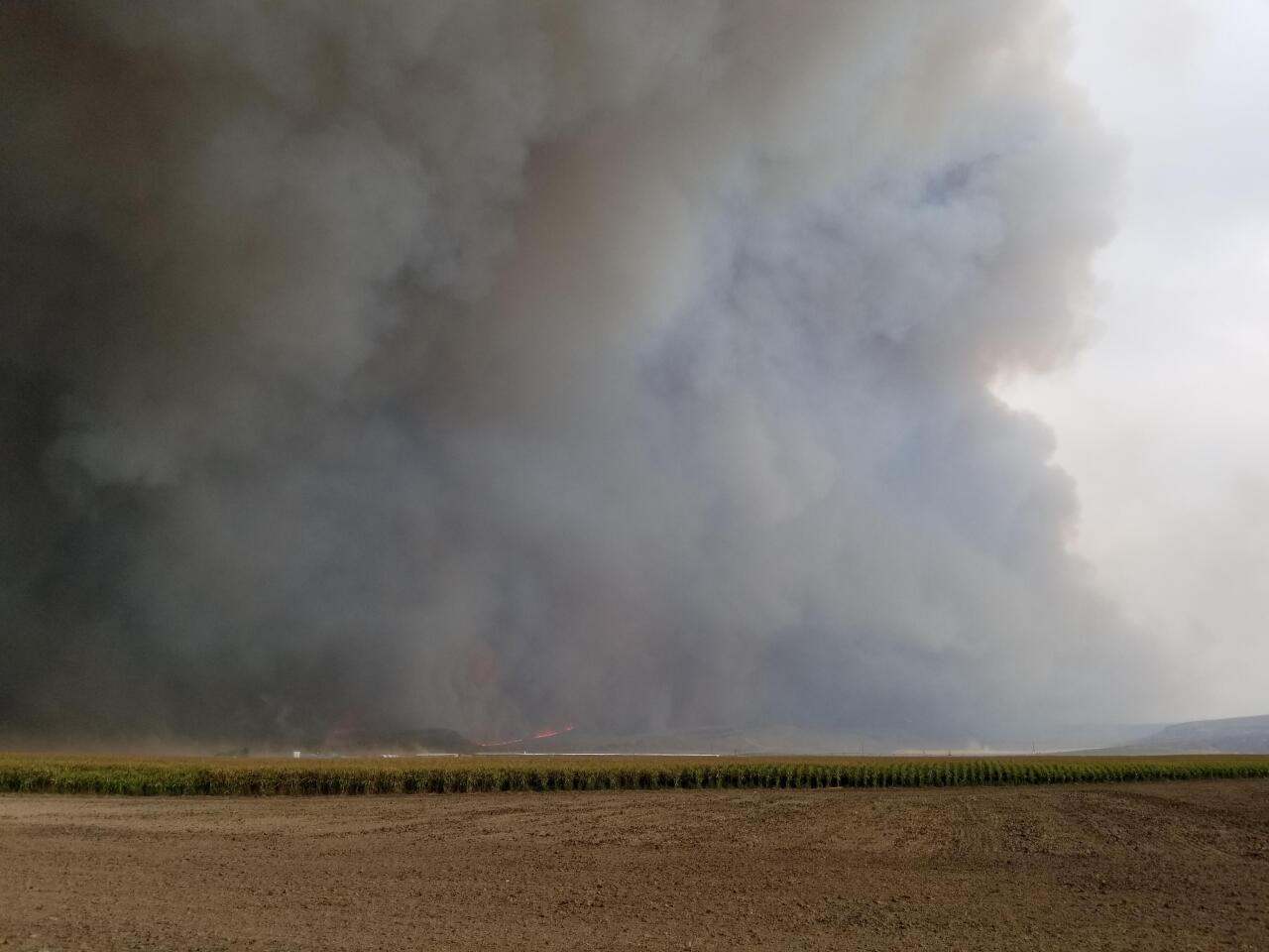 Badger Fire doubles overnight due to high winds 2