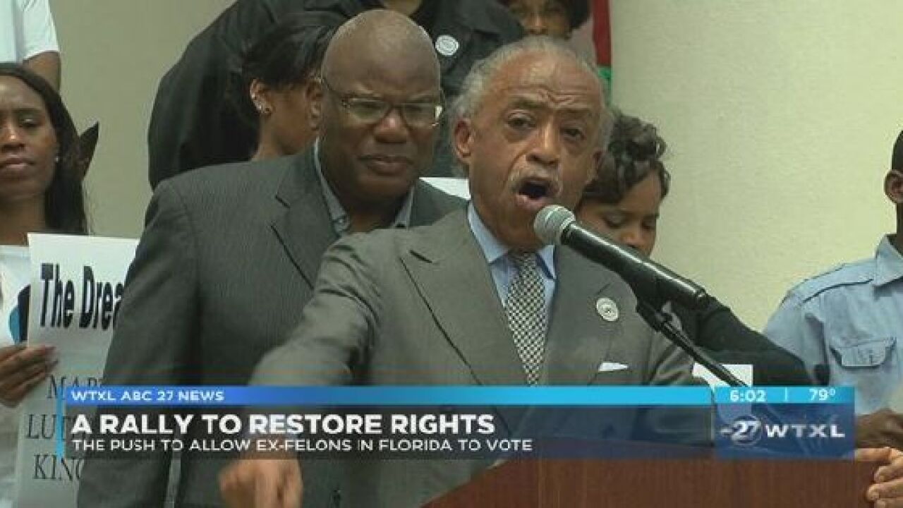 Leaders rally to support restoring voting rights to ex-felons