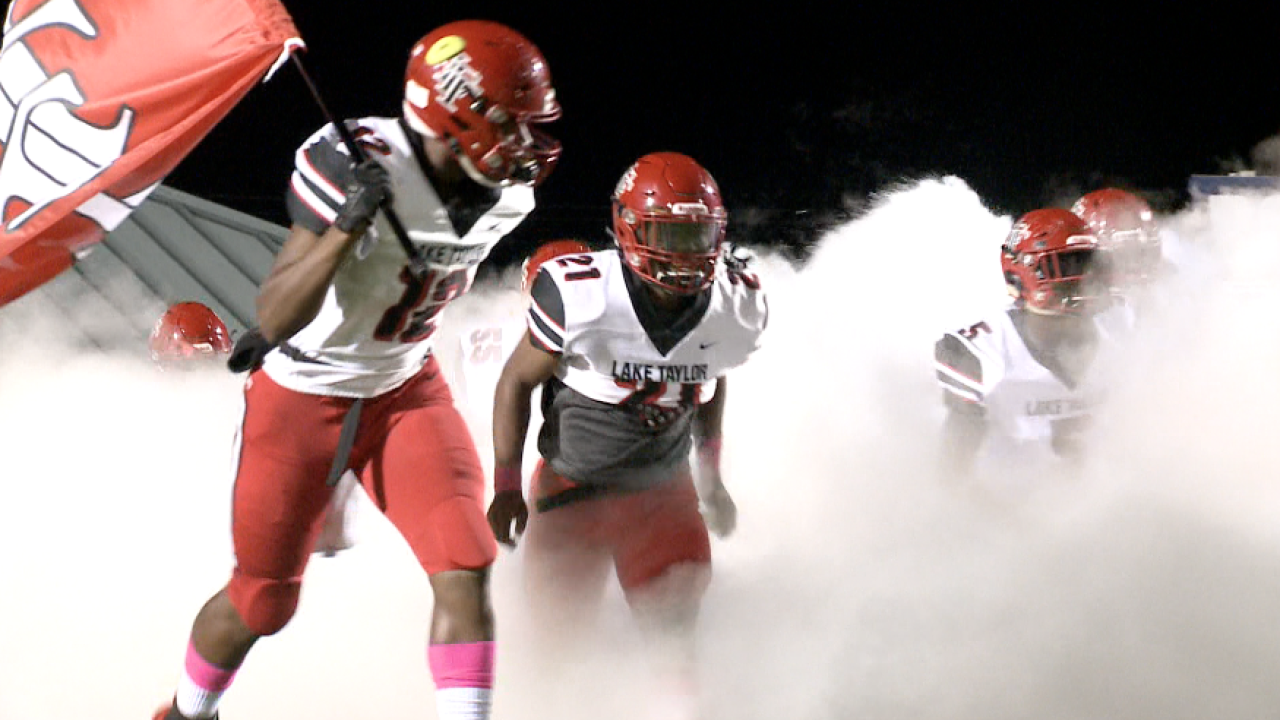 757 Showdown: Lake Taylor football scores 64 points in rout of Granby
