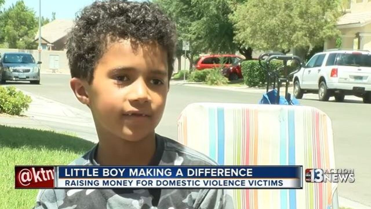Little boy making a difference for charity