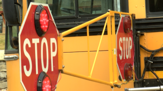 Extended school bus stop signs make roads safer in Bigfork