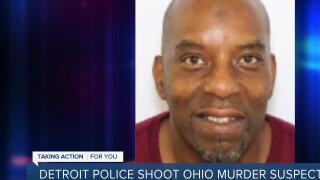 Detroit police shoot Cincinnati man, accused of killing 3 in Ohio, outside of motel