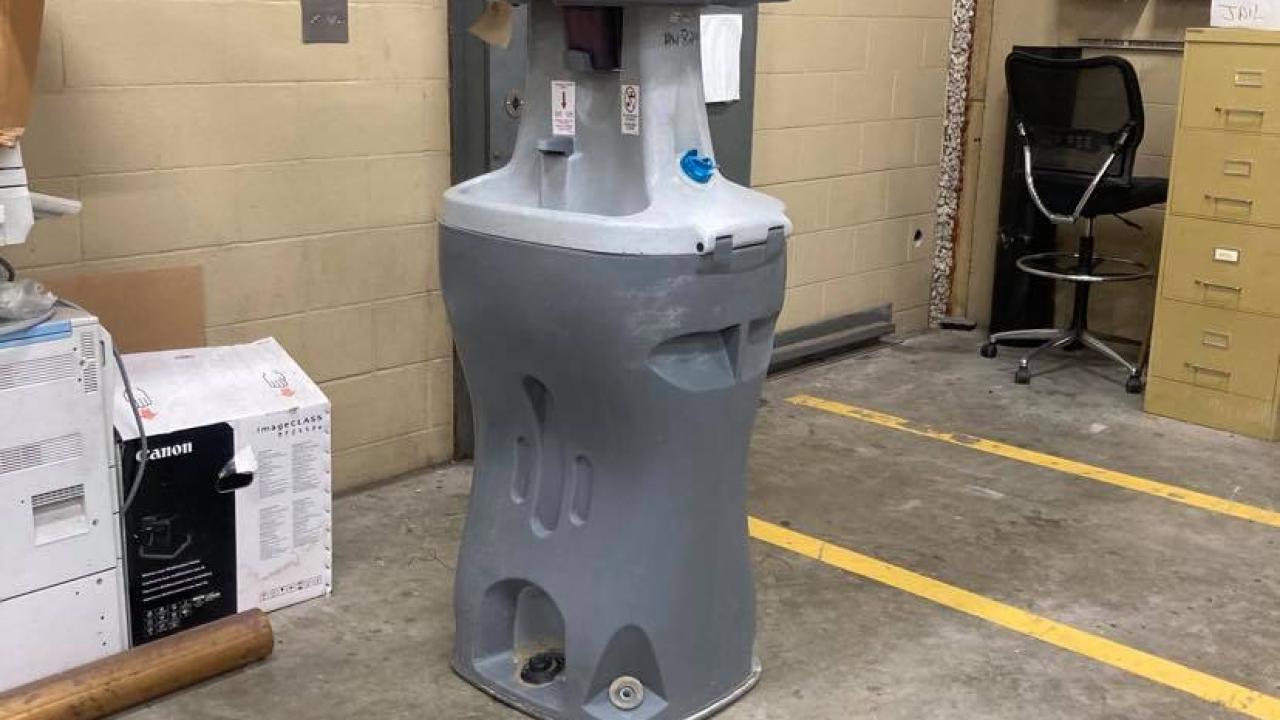 Water station inside San Patricio County jail