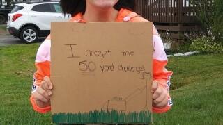 Mia 50 yard challenge