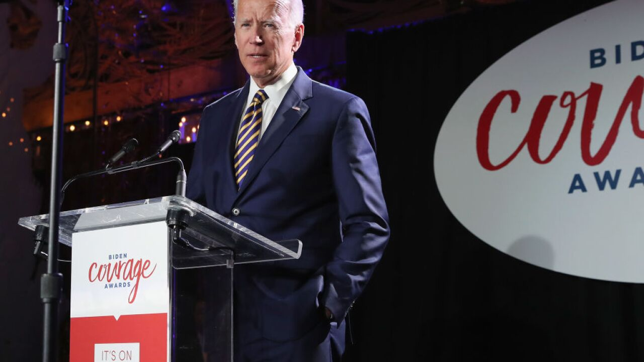 Joe Biden targets Trump, touts union ties in first campaign rally