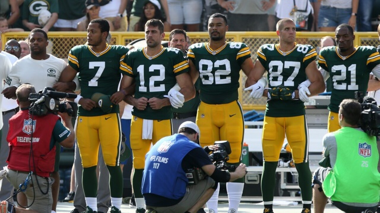 Green Bay Packers players release statement encouraging fans to link arms during anthem