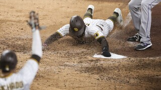 APTOPIX Rockies Padres Baseball jorge mateo