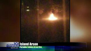 Porta-potty fire has Islanders worried about vandals