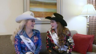 Miss Rodeo Montana royalty bestows belt buckles to honor rodeo fans