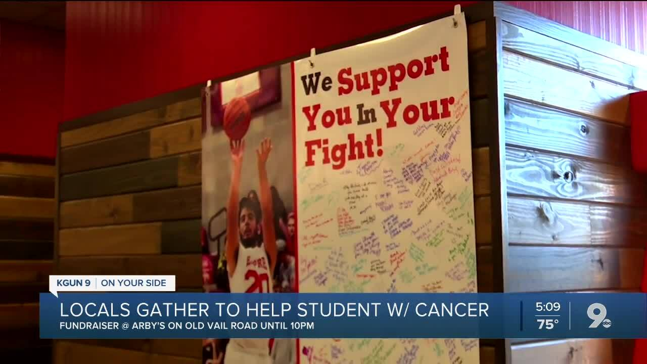 Community members support student with his fight against cancer