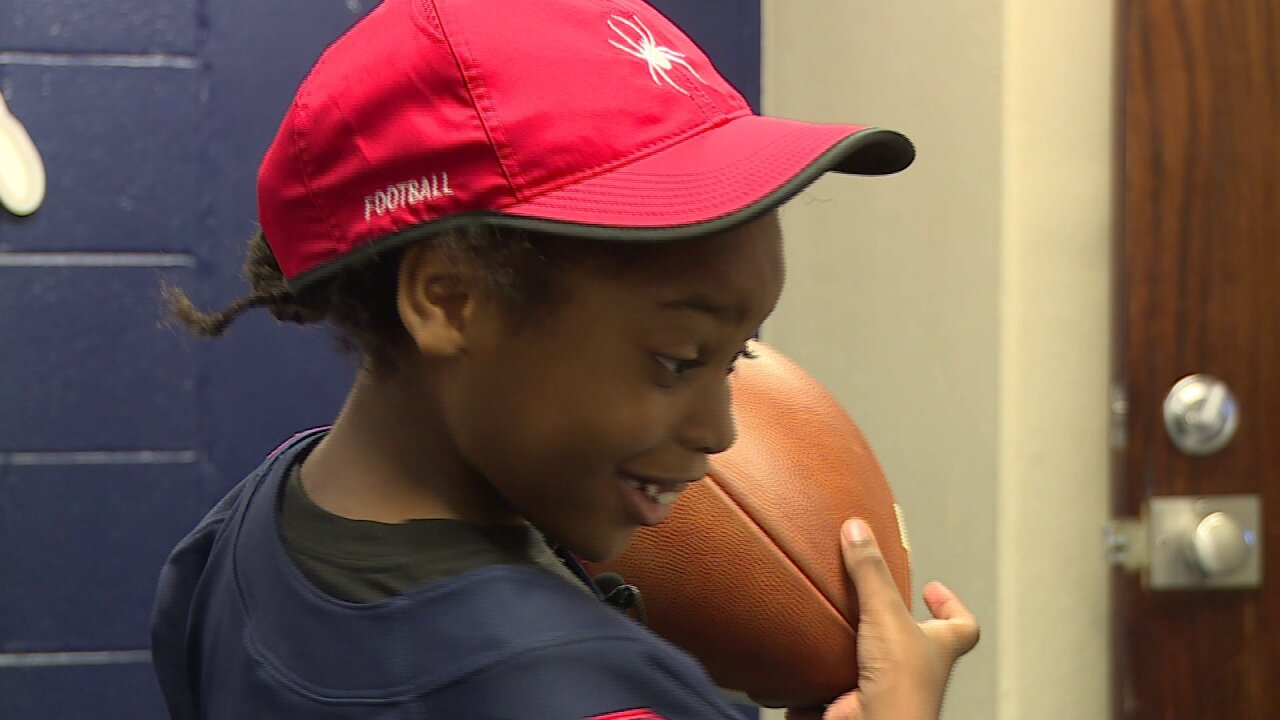 Henrico 7-year-old joins the roster of the University of Richmond's football team