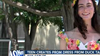 Teen creates prom dress from duck tape