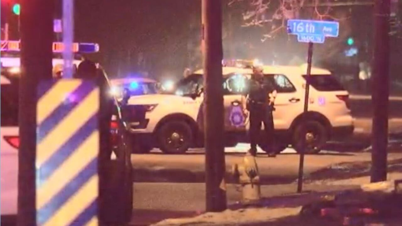 Denver police search for suspects following chase and shootout in area of 16th and Quebec Street